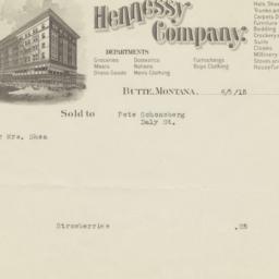 Hennessy Company. Bill