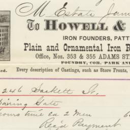 Howell & Saxtan. Bill