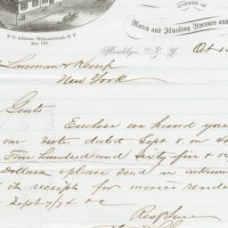 Moller & Schumann. Letter