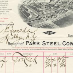 Park Steel Company. Bill