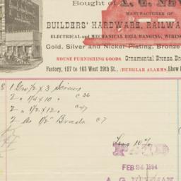 A. G. Newman. Bill