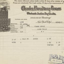 Charles Broadway House. Bill