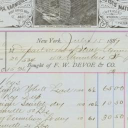 F.W. Devoe & Co.. Bill
