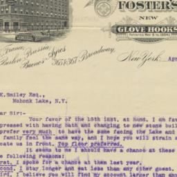 Foster, Paul & Co.. Letter