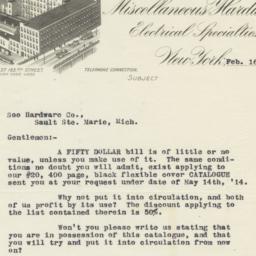 Francis Keil & Son. Letter