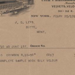 Otto Jaeger & Son, Inc.. Bill