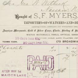 S.F. Myers & Co.. Bill