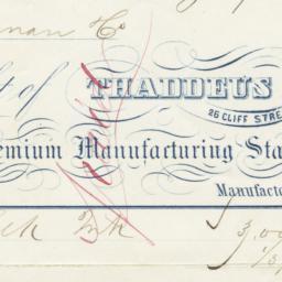 Thaddeus Davids & Co.. Bill