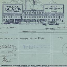William Black & Company. Bill