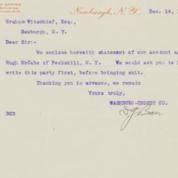 Washburn-Crosby Co.. Letter
