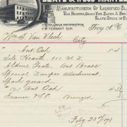 C. W. Billings Slate and Wo...