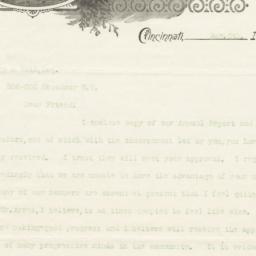 Crane & Breed Mfg. Co.. Letter
