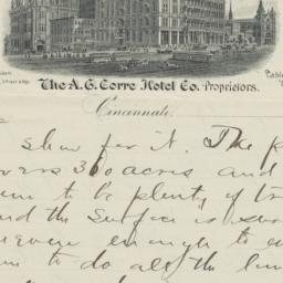 Grand Hotel. Letter