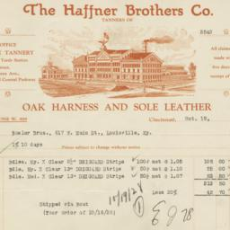 Haffner Brothers Co.. Bill