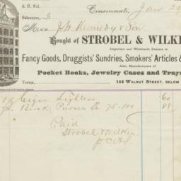 Strobel & Wilken. Bill