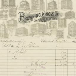 Browning, King and Co.. Bill