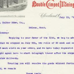 W. S. Tyler Wire Works. Letter