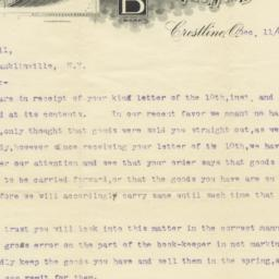 Burch Plow Works. Letter