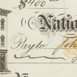National Exchange Bank. Check