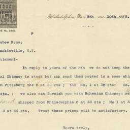 R. J. Allen, Son & Co.. Letter