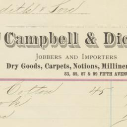 Campbell & Dick. Bill
