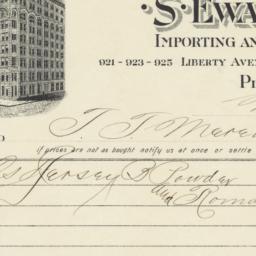 S. Ewart & Co.. Bill