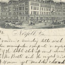 New Atlantic Hotel. Letter