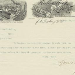 Parkersburg Mill Co.. Letter