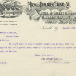 New Jersey Tube Co.. Letter