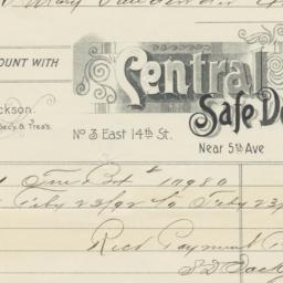 Central Safe Deposit Co.. Bill