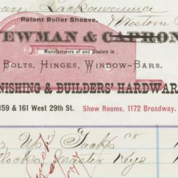 Newman & Capron. Bill