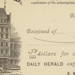 Boston Herald Co.. Card stock