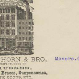 Wm. H. Horn & Bro.. Envelope