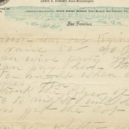 State Mining Bureau. Letter