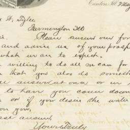 Parlin & Orendorff Co.. Letter