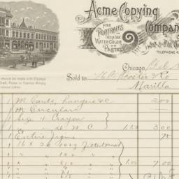 Acme Copying Company. Bill