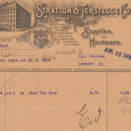 Stratton & Terstegge Co.. Bill
