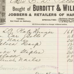 Burditt & Williams. Bill