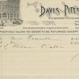 Davis, Pitts & Co.. Bill