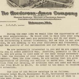 Henderson-Ames Company. Letter