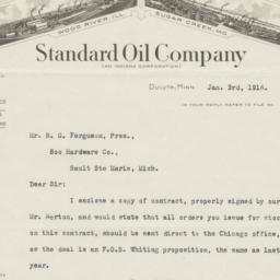 Standard Oil Company. Letter