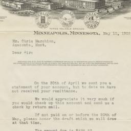Northrup, King & Co.. Letter