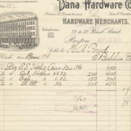 Dana Hardware Co.. Bill