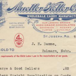 Mueller-Keller Candy Co.. Bill