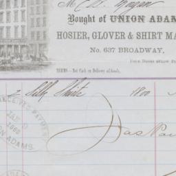 Union Adams. Bill