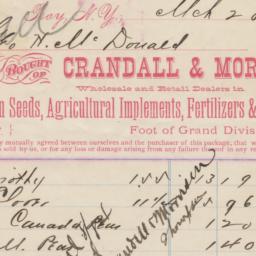 Crandall & Morrison. Bill