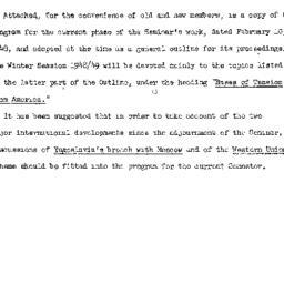 Announcements, 1948-10-13. ...