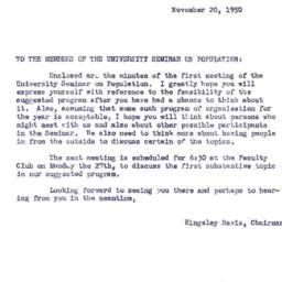 Announcements, 1950-11-20. ...
