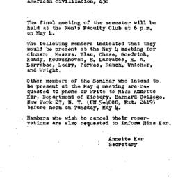 Announcements, 1954-04-12. ...