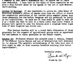 Announcements, 1949-10-10. ...